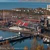 LKABs søndre område med olivinskip som losses ved kai 3-4. Til høyre slepebåter. I bakgrunnen deler av Framnes. 1. oktober 2011