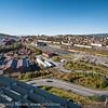 Deler av den såkalte Trekanten, handelspark. Ubebygget område mellom Amfi og Nordkraft Arena. Narvik sentrum, foto 19. september 2012.