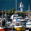 4. juli 2011. Ankenes småbåthavn. Vegglandet i bakgrunnen.