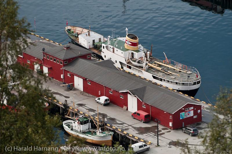 Gamle Skogøy ved utstikker på Narvik havn. Aug 2012.