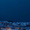 Mørketid 27.desember 2011. Mørke skyer med snøbyger i det det blir mørkt kl 1430.
