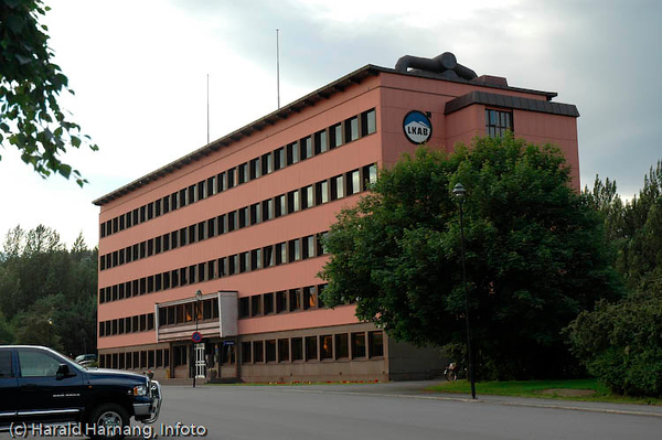 LKABs administrasjonsbygning. Skal fraflyttes våren 2008.