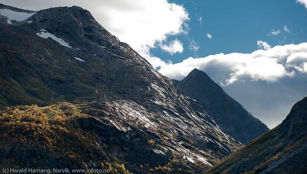 Skamdalen, Beisfjord 24. september 2015. Skamdalsbakken på veien over til Losi på Skjomfjellet.