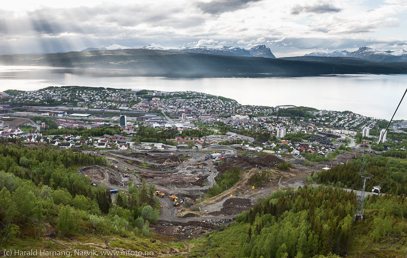 Bolifelt fra Skistua og oppover fjellet, 15. juni 2018