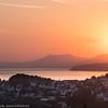 Malmskip i solnedgang