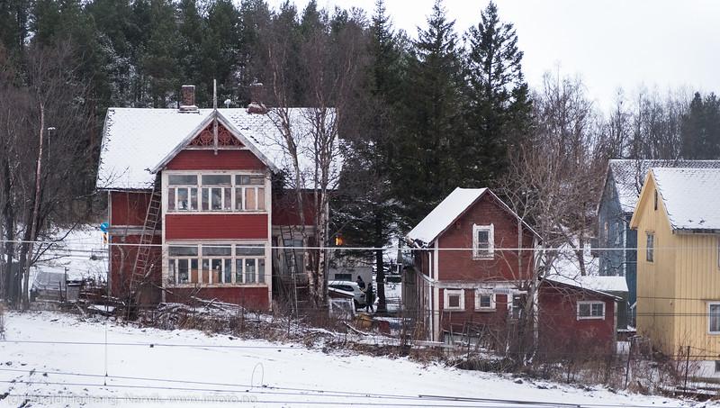 Et av Narviks eldste hus. 25. nov 2018.