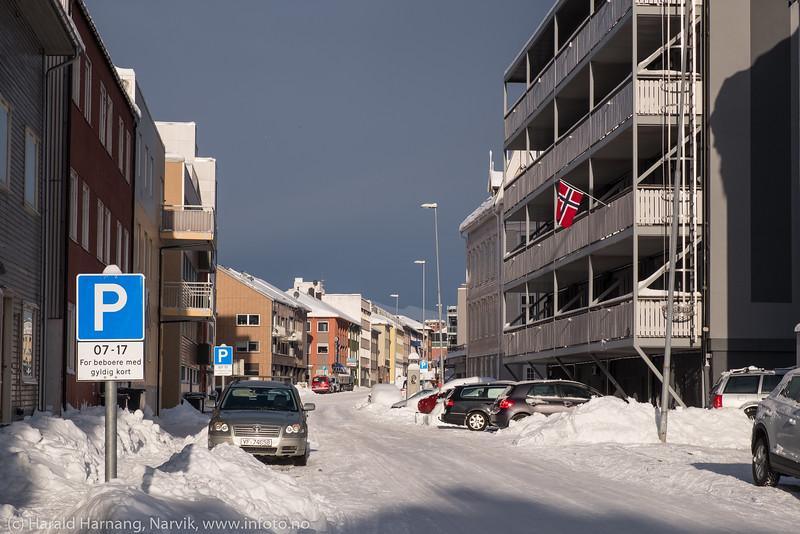 Snøfall, 21. februar 2019