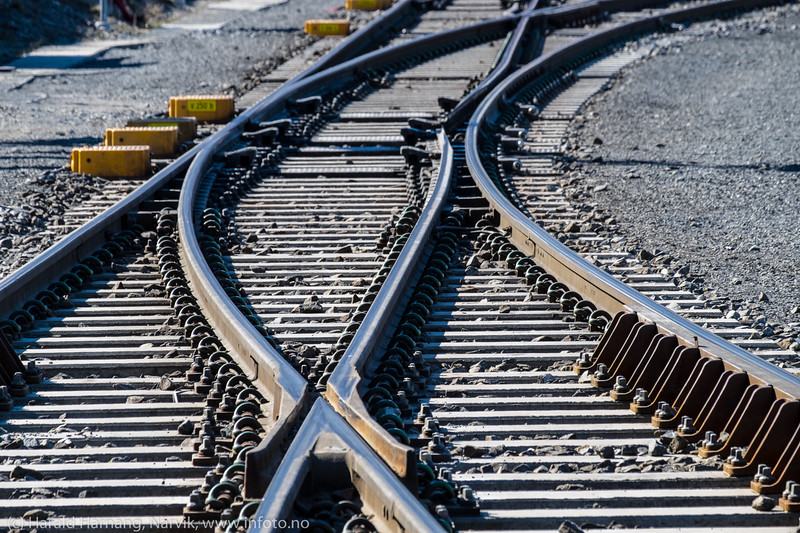Jernbanespor på Fagenesterminalen.