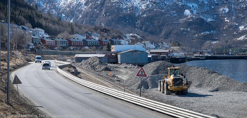 Område mellom Holmlunds oljeterminal og Ivarson tak fylles ut.