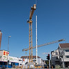 """""""Domus-kvartalet"""" skal nå påbygges i flere etasjer og bli leilighetskompleks, med parkering i 2. etasje og handelsvirksomhet mm i grunnplan. Utbygger: Kubera."""