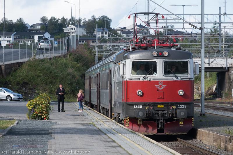 Togavgang Narvik stasjon 22. aug 2018