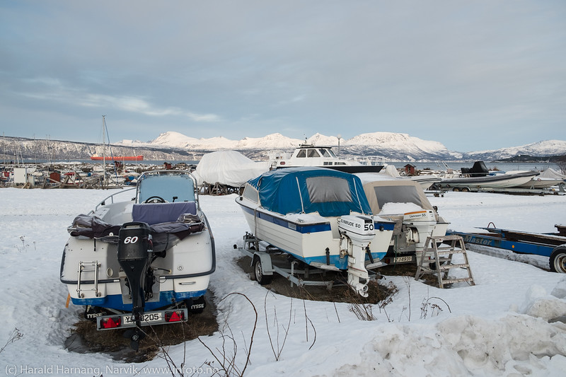 Småbåthavna i Vassvik 4. februar 2018