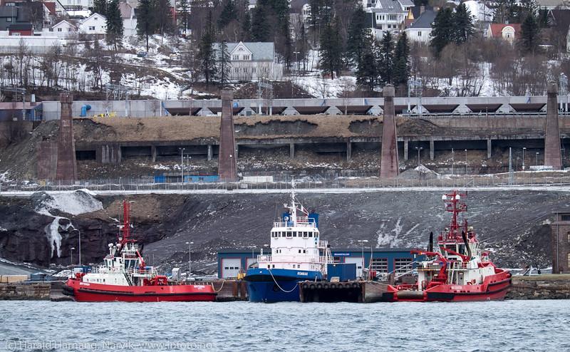 Slepebåter Narvik havn 28. mars 2016