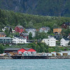 Forretningsvirksomhet på Fagernes-området. Foto fra pir 1, 8. juni 2016