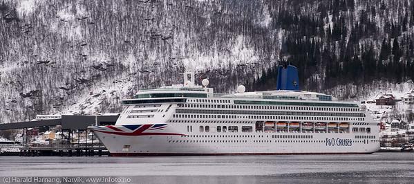 Aurora, cruiseskip, anløp 15. mars 2019