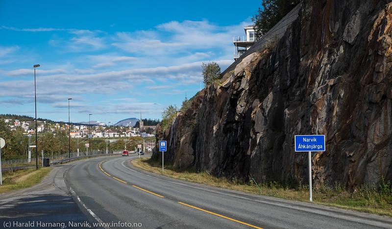 Ved utkjøringen av Fagernestunnelen, nordside