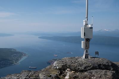 Meterologisk stasjon på Fagernestoppen, 1000 moh