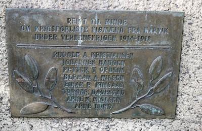 Minnesmerke første verdenskrig