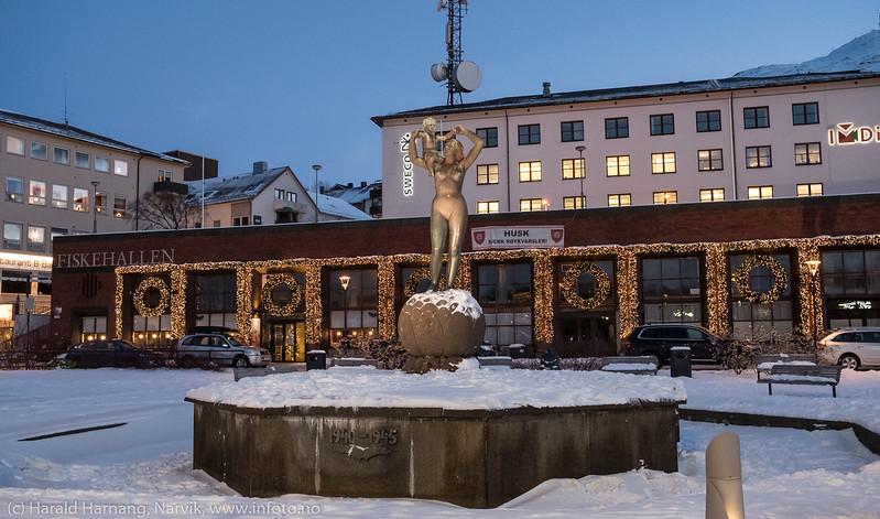 Narvik torg, 10. desember 2017