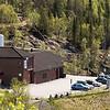 Taraldsvikfoss minikraftverk og vannrenseanlegg. Populært utfartssted inn til Tøttadalen. Foto 27. mai 2016.