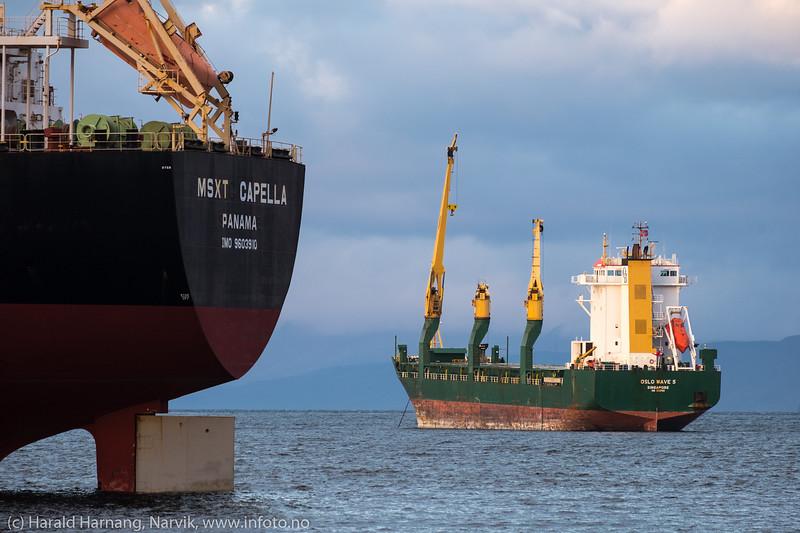 Malmskip, Narvik havn 18. okt 2018