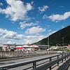 Liten flik av industriområdet på Fagernes sett fra Beisfjordbrua. 15. juni 2016