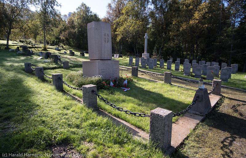 Polsk minnestøtte, Narvik gravlund