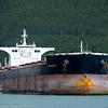 Malta-registrerte cargoskipet Madeira, DWT (dødvekttonn):  177926 t. 292m × 45.05m<br /> Byggeår:  2007. Til ankers på Narvik havn. Foto fra Pir 1. I bakgrunnen utlastesystemet til tidligere Northland Ressourses.