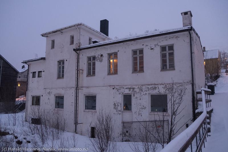 Tore Hundsgate 45, tidligere kirke mm. Skal etter planen rives for å gi plass til leilighetskompleks.