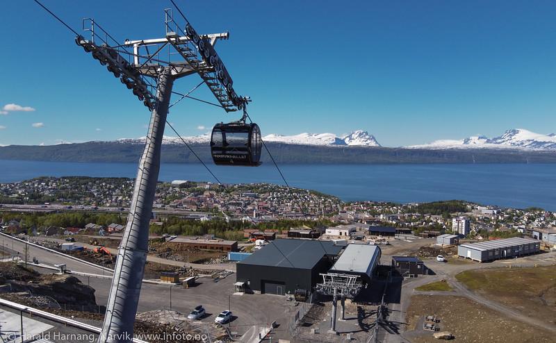 Gondol Narvikfjellet, 10. juni 2020