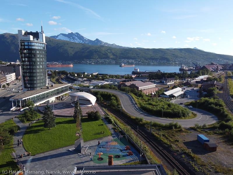 Narvik sentrum, 7. aug 2020