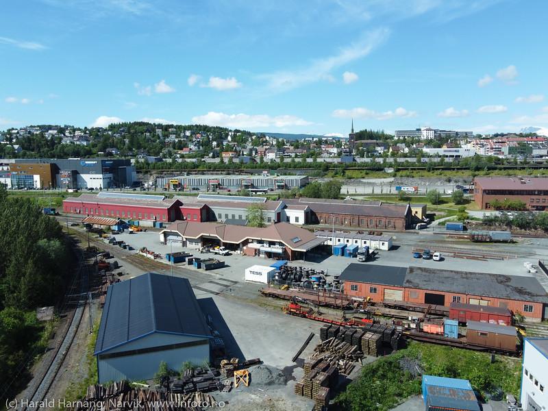 verkstedbakken, Narvik, 24. juni 2020