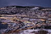 Narvik, mørketid, sett fra øvre fjellheisstasjon, 12. desember 2020.