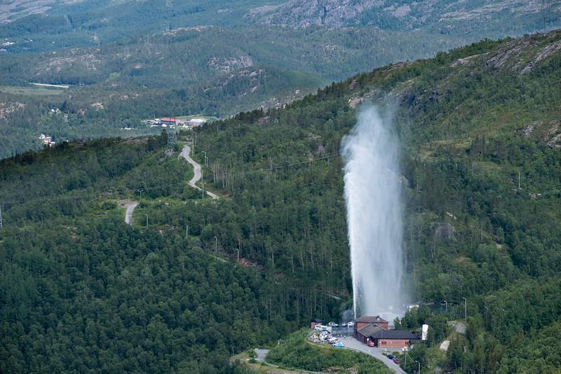 Fontene ved Tøtta vann-renseanlegg. 9. juli 2019.