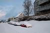 Tore Hunds gate, sett nordover, fra omlag THg 34. Foto 22. januar 2020