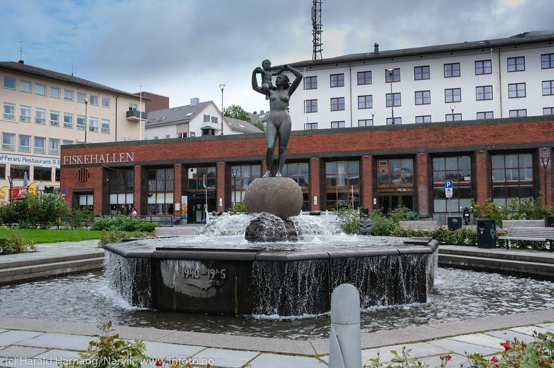 Torvet, Frihetsstatuen, 26. aug. 2020