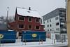 Håreksgate 64, her et tomt skall som like etter ble revet. Her kommer et leilighetskompleks, Huset ved siden av til høyre, Håreksgate 62, er nytt. Her sto Frelsesarmeens tidligere lokaler. Foto 1. november 2019.