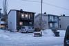 Mørketid og julepyntet i husene. Hamsuns vei 11. Foto 7. desember 2019