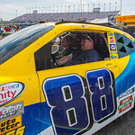 Jeff and Logan Ingles of Springfield, IL competed against one another in a racing simulator.
