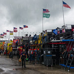 Once the rains stopped on Thursday, race teams went back to work prepping the cars for Saturday night\'s main event.
