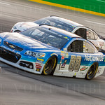 NASCAR\'s most popular driver, Dale Earnhardt, Jr., took the green flag from the 10th spot; brake problems left Earnhardt 21st at the end of the night.