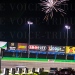 Fireworks on-track, fireworks in the sky.