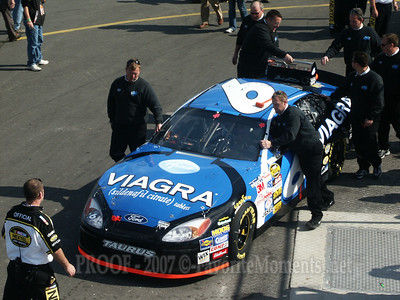 Mark Martin's Car having trouble passing inspection