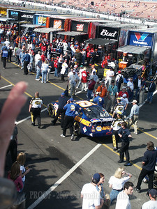 Michael Waltrip's car with Tony Eury Jr