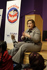 Minneapolis, MN - Minnesota Speaker of the House Margaret Kelliher spoke to local school children who took part in the Feeding Imagination Celebration honoring the 2nd year of books donated to local schools and organizations by the Nash Finch Company Charitable Foundation here today, Thursday November 20, 2008. The Feeding Imagination program has donated over 60,000 books to local organizations in the last 2 years and announced 12,000 more books to be donated to 12 organizations today. Date: Thursday November 20, 2008 Photo by © Todd Buchanan 2008 Technical Questions: todd@toddbuchanan.com; Phone: 612-226-5154.