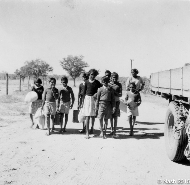 1954 Gogo children coming to Fitzroy for school