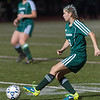 Sarah Gillooly boots the ball against W. Springfield in the Div I Semi-Final. The Chieftains won 1-0 to move on to the State Championship game. SENTINEL&ENTERPRISE/ Jim Marabello