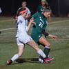 Alana Carlucci of Nashoba battles against W. Springfield in the State Div I Semi-Final. The Chieftains advanced 1-0. SENTINEL & ENTERPRISE / JIm Marabello