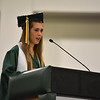 Class valedictorian Haley Neff speaks to fellow graduates at the DCU Center in Worcester for the Nashoba Regional commencement ceremonies on Sunday.  SENTINEL & ENTERPRISE JEFF PORTER