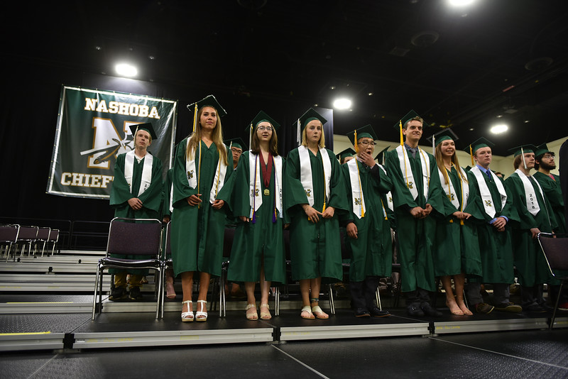 Family and friends gather at the DCU Center in Worcester for the Nashoba Regional commencement ceremonies on Sunday.  SENTINEL & ENTERPRISE JEFF PORTER